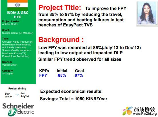 FPY improvement in Easypact